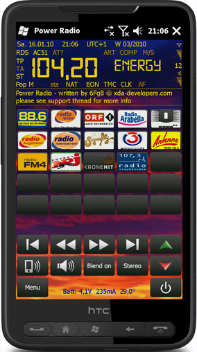 Power Radio - FM Player with RDS Decoding
