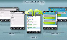 Windows Mobile Threaded SMS Skins by Astronaut