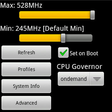 SetCPU for Android Root Users