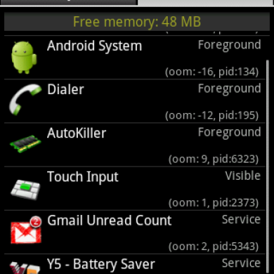 AutoKiller – Memory Management for Android