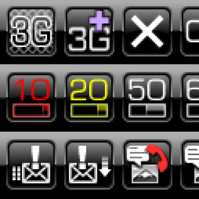BW Taskbar Icons & Wait Animation