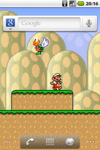 Watch Mario Play On Your Home Screen