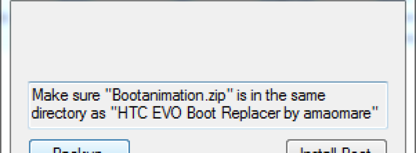 Tool to Replace Boot Animation on your EVO