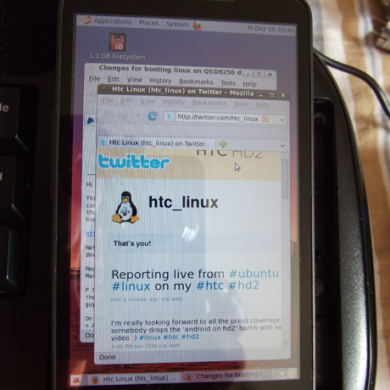 Android and Ubuntu Now Booting on HTC HD2