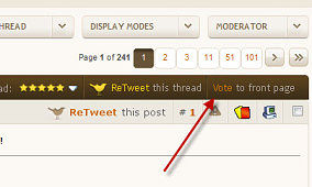 New XDA Feature: Vote to Front Page