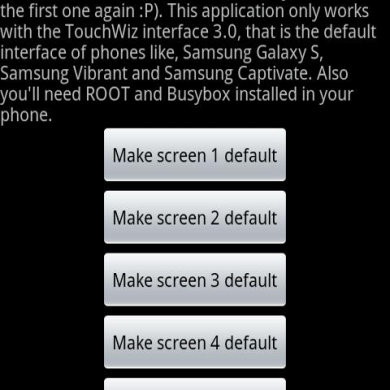 Set Default Home Screen on your Galaxy S
