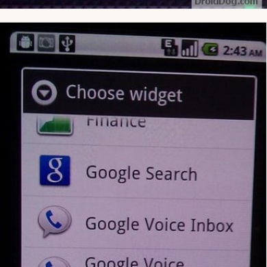 New Google Voice With Widget Extracted from G2 ROM