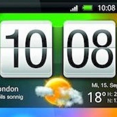 Animated Flip HTC Sense Clock Ported from Desire HD