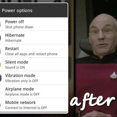 Advanced Power Menu for Sense HD ROMS