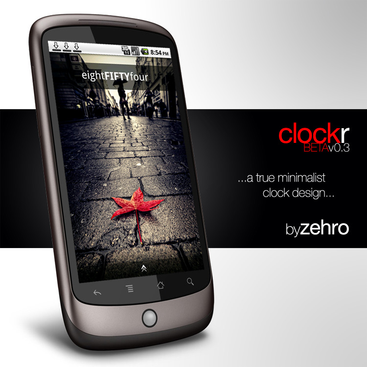 Clockr - Text Based Clock Widget for Android
