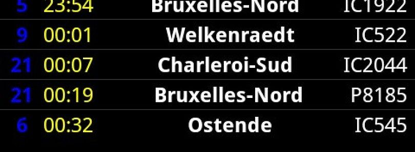 Android iRail Train Times Information for Belgium