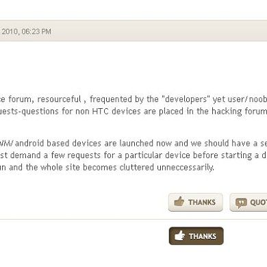"""Introducing the """"Thanks"""" Button on XDA"""