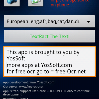 TextRact- OCR for Android and Windows Mobile