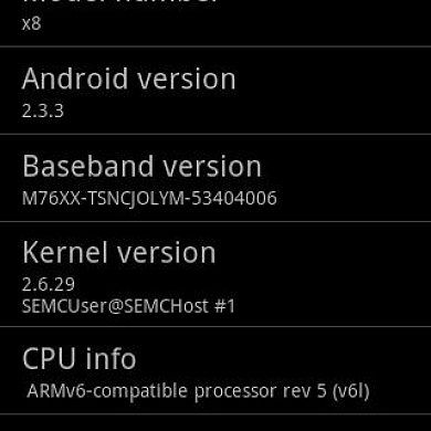 CM7 Gingerbread Available For the Sony Xperia X8