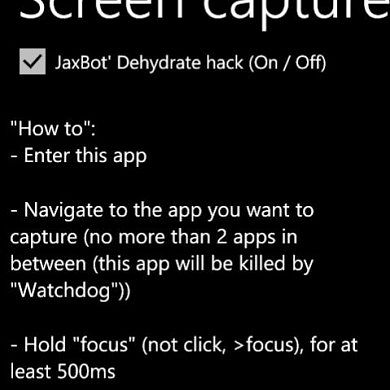 Developing for Windows Phone 7? WP7 Screen Capture Allows You To Show Off Your Work