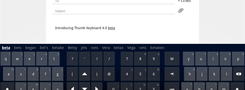 Brand New Version Of Thumb Keyboard Released