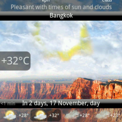 Android Weather Widget With Realistic Effects