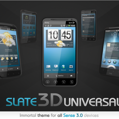 Bring Elegance to Your Sense 3.0 Device With Slate3Duniversal