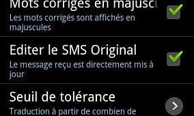 SMS Corrector for Android