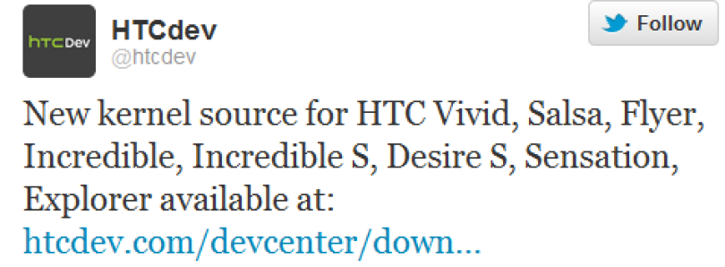 HTCdev Releases 8 New Source Codes
