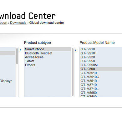 Samsung Galaxy S III Pops Up on Samsung Support Site