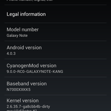 Samsung Galaxy Note Among the Latest to Get CyanogenMod9