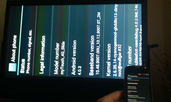 Use Terminal Emulator Enabled TV-Out App to Stream MyTouch 4g Slide