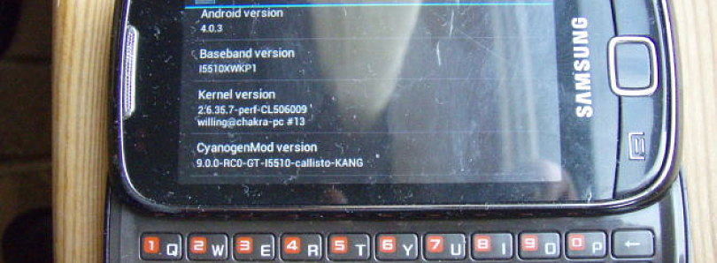 Unofficial CyanogenMod 10 for the Samsung Galaxy GT-I5510