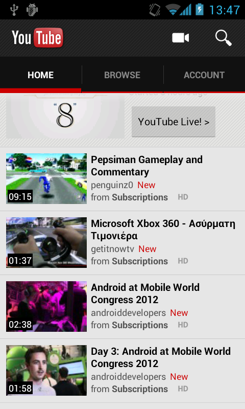 Youtube Mod Brings 720p Playback over 3G