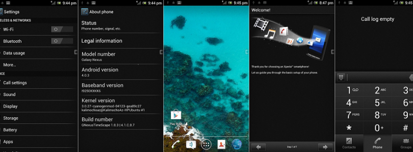 Xperia Arc S ROM Ported to the Galaxy Nexus
