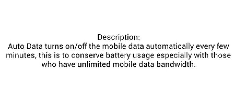 Auto Data App Turns Off Data with Screen to Save Battery