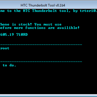 HTC Thunderbolt All-In-One Toolkit for Everything