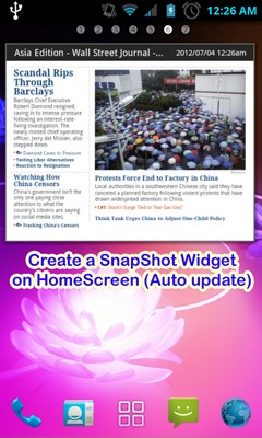 Keep a Website on Your Home Screen in a Widget with WebSnap