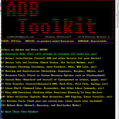 ADB Toolkit Updated, Adds A Bunch of Features and Support For All Devices
