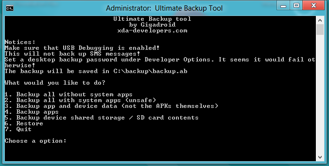 Ultimate Backup Tool, No Root Required