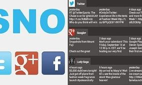 SNOView Puts Public Facebook, Twitter, and Google+ Feeds in One Place