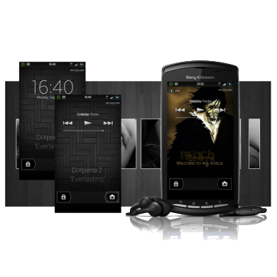 NxtLockScreen with Music Toggles on the Xperia Play