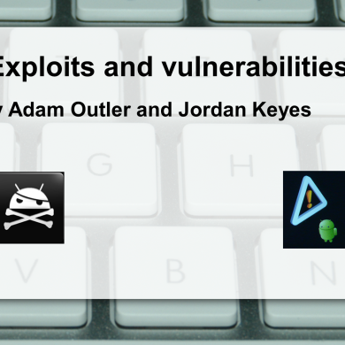 Exploits and Vulnerabilities Talk at the BABBQ