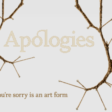 """An """"Apology"""" Like No Other"""