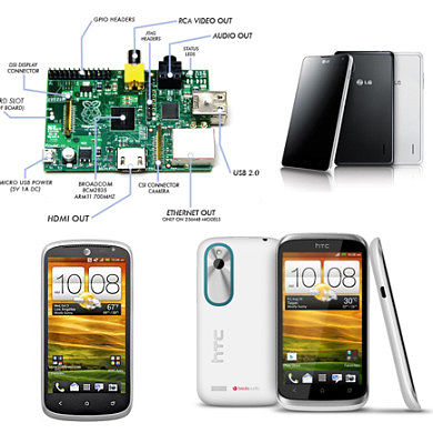 Forums Added for the Raspberry Pi, LG Optimus G, HTC One VX, and HTC Desire X!