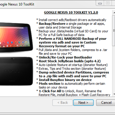 Nexus 10 All-in-One Toolkit Released