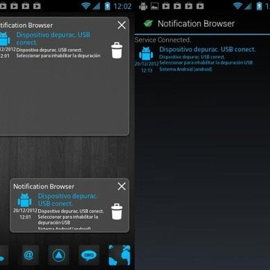 Access Notifications from a Full Screen Launcher with NotificationBrowser