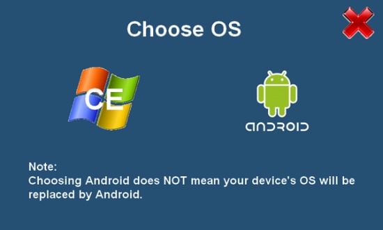 OSLoader is a Dual Boot Bootloader for Android on Windows CE Devices