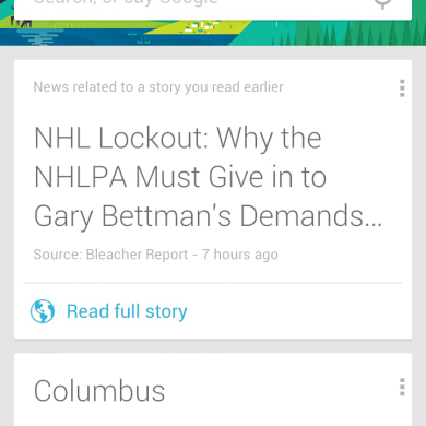 Google Now Updated in Google Play Store, Loads of New Features