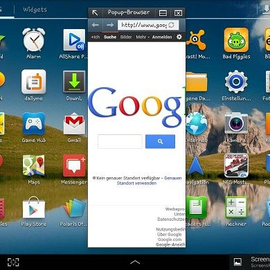Resizable Browser for the Galaxy Tab 2