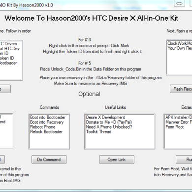 All-in-One Toolkits for the HTC Explorer, Desire V, and Desire S