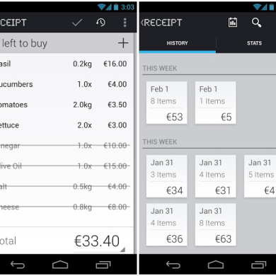 Keep to a Budget with Receipt for Android