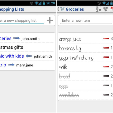 Know Exactly What to Buy with Shared Shopping List