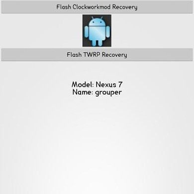 Download and Install Custom Recovery with One Click