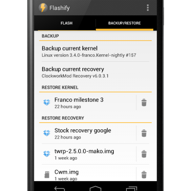 Easily Flash and Backup Your Device with Flashify